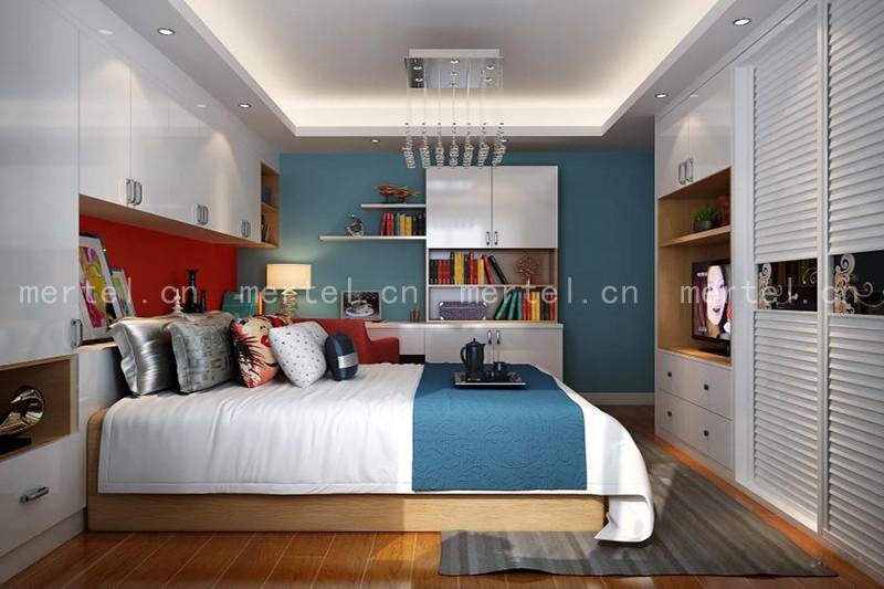 现代简约卧室衣柜书桌柜